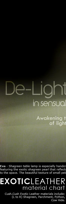 De-Light in sensual surfaces